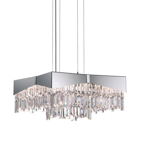 Schonbek RF2418N-16S Riviera 8 Light 18 inch Brushed Stainless Steel Pendant Ceiling Light in Clear Swarovski photo
