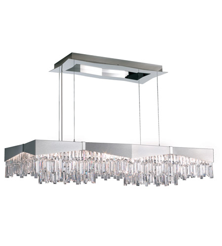 Schonbek RF2448N-16A Riviera 16 Light 48 inch Brushed Stainless Steel Pendant Ceiling Light in Clear Spectra photo