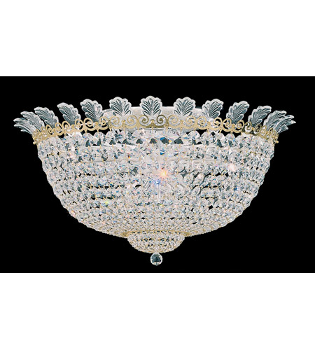 Schonbek Roman Empire 13 Light Flush Mount in Polished Gold and Clear Spectra Crystal Trim 3704-20A photo