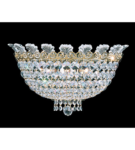 Schonbek 3708-20A Roman Empire 3 Light 7 inch Polished Gold Wall Sconce Wall Light in Clear Spectra Crystal photo