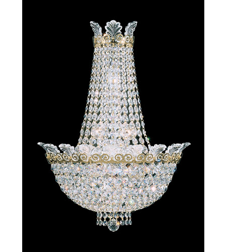 Schonbek Roman Empire 6 Light Wall Sconce in Polished Gold and Clear Spectra Crystal Trim 3710-20A photo