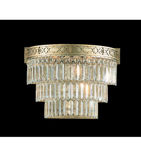 Schonbek Romanoff 3 Light Wall Sconce in Heirloom Silver and Clear Heritage Handcut (H) Trim 5711-44 photo