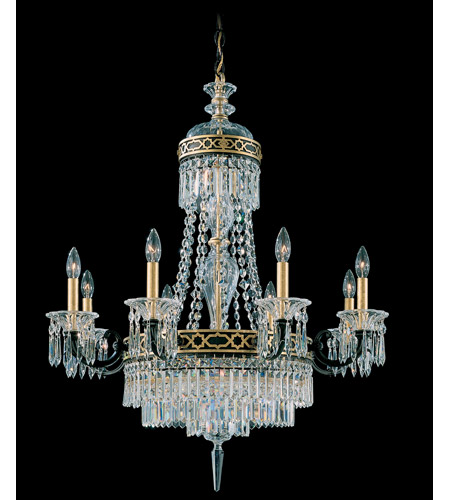 Schonbek Romanoff 10 Light Chandelier in Black and Clear Heritage Handcut (H) Trim 5717-51 photo