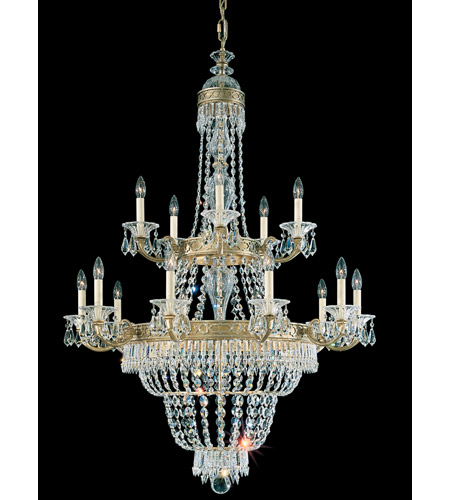 Schonbek Romanoff 20 Light Chandelier in Heirloom Gold and Clear Heritage Handcut (H) Trim 5718-22 photo