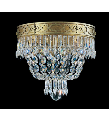 Schonbek Romanoff 4 Light Flush Mount in Heirloom Gold and Clear Heritage Handcut (H) Trim 5722-22 photo