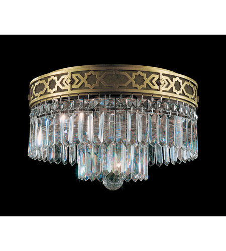 Schonbek Romanoff 4 Light Flush Mount in Heirloom Bronze and Clear Heritage Handcut (H) Trim 5723-76 photo