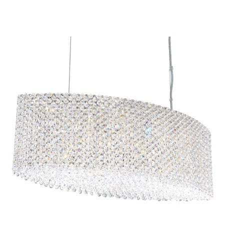 Schonbek Refrax 17 Light Pendant in Stainless Steel and Aqua Swarovski Elements Trim RE2809AQU photo