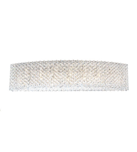 Schonbek Refrax 9 Light Wall Sconce in Stainless Steel and Silver Shade Swarovski Elements Trim REW2806SH photo