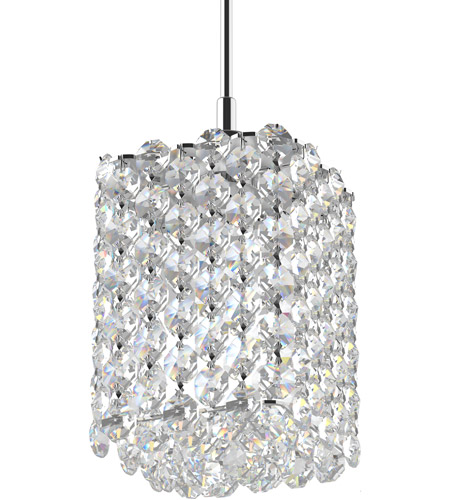 Schonbek Re0405a Refrax 1 Light 4 Inch Stainless Steel Pendant Ceiling In Spectra Geometrix Canopy Sold Separately