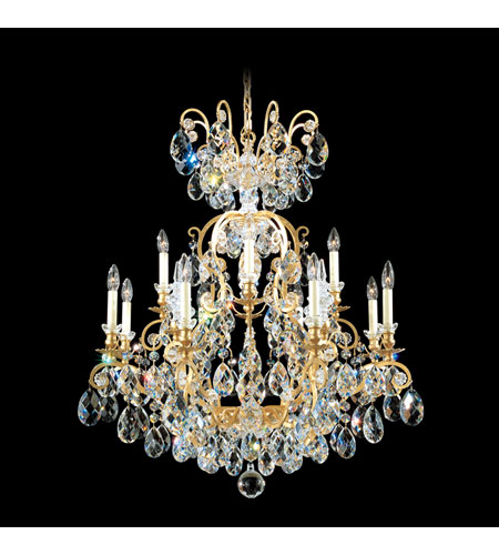 Schonbek Renaissance 13 Light Chandelier in Heirloom Gold and Clear Swarovski Elements Colors Trim 3772-22GS photo
