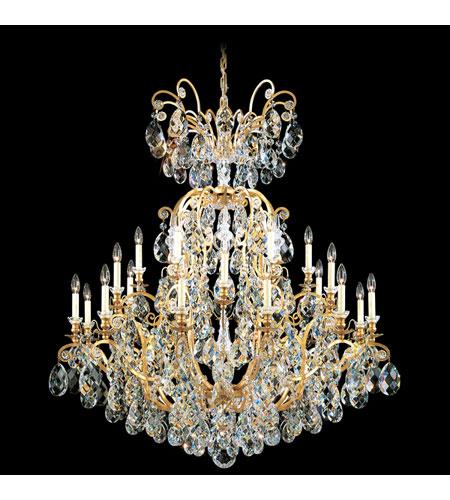 Schonbek Renaissance 25 Light Chandelier in Heirloom Gold and Silver Shade Swarovski Elements Colors Trim 3774-22SH photo