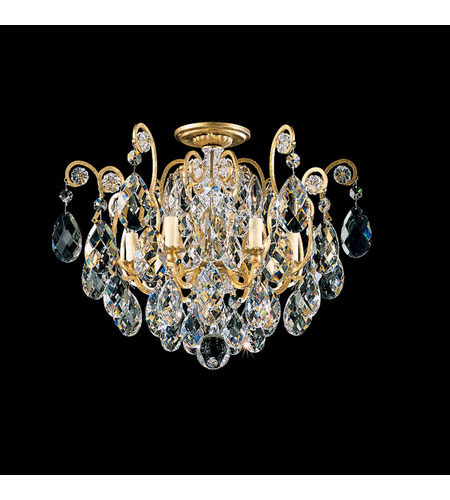 Schonbek Renaissance 6 Light Chandelier in Heirloom Gold and Crystal Swarovski Elements Trim 3784-22S photo