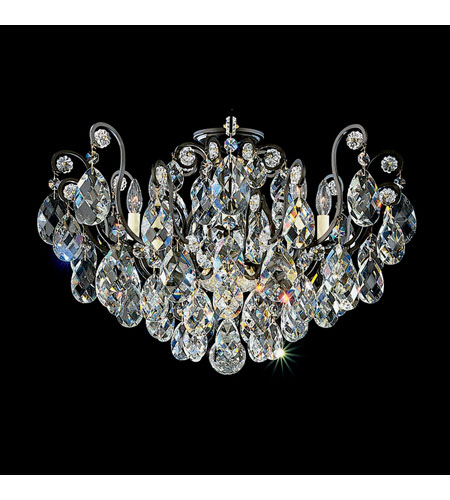 Schonbek Renaissance 8 Light Chandelier in Black and Clear Swarovski Elements Colors Trim 3785-51GS photo