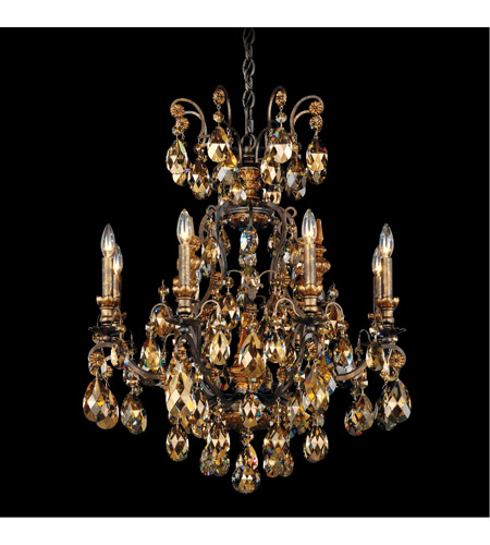 Schonbek 3771-76TK Renaissance 9 Light 27 inch Heirloom Bronze Chandelier Ceiling Light in Renaissance Golden Teak photo