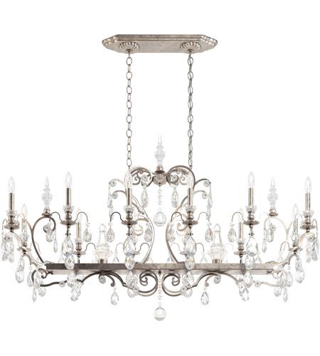 Renaissance 14 Light 56 Inch Antique Silver Chandelier Ceiling In Heritage