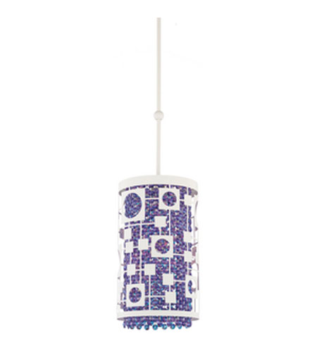 Schonbek Shadow Dance Pendant in White and Violet Swarovski Elements Colors Trim SH0201N-06VIO photo
