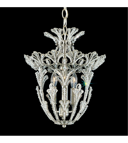 Schonbek 6710-48S Rivendell 3 Light 12 inch Antique Silver Lantern Pendant Ceiling Light in Clear Swarovski photo