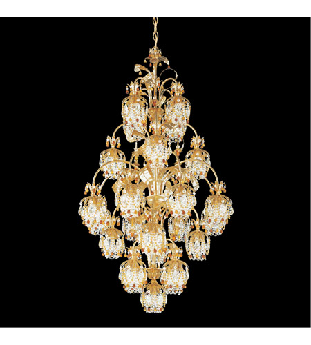 Schonbek 1275-26TO Rondelle 25 Light 34 inch French Gold Chandelier Ceiling Light in Topaz photo