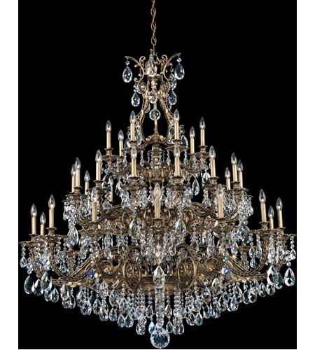Schonbek Sophia 35 Light Chandelier in Florentine Bronze and Clear Spectra Crystal Trim 6967-83A photo
