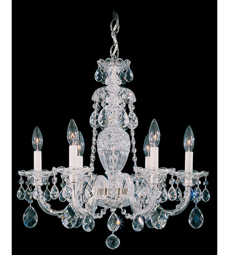 Schonbek Sterling 6 Light Chandelier in Silver and Clear Heritage Handcut (R) Trim 2994-40H photo