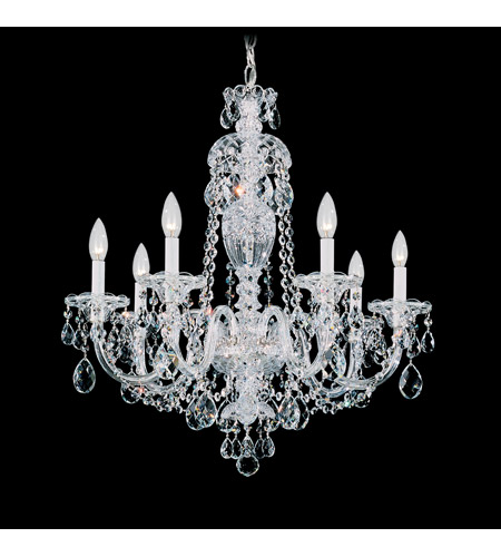 Schonbek Sterling 7 Light Chandelier in Silver and Clear Heritage Handcut (R) Trim 2995-40H photo