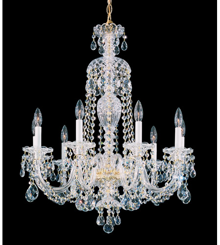 Schonbek Sterling 9 Light Chandelier in Gold and Clear Heritage Handcut (R) Trim 2996-20H photo
