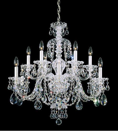 Schonbek 3601-40H Sterling 12 Light 29 inch Silver Chandelier Ceiling Light in Clear Heritage photo