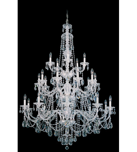 Schonbek Sterling 25 Light Chandelier in Silver and Clear Heritage Handcut (R) Trim 3610-40H photo