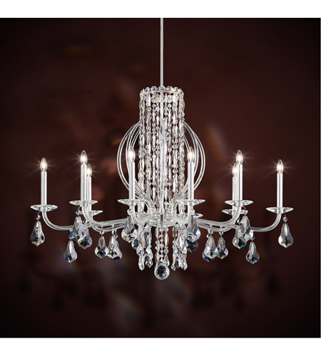 Schonbek rs8310n 401a sarella 10 light 25 inch stainless steel schonbek rs8310n 401a sarella 10 light 25 inch stainless steel chandelier ceiling light in spectra aloadofball Images