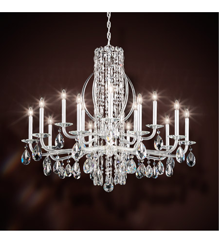 Schonbek rs8315n 401a sarella 15 light 41 inch stainless steel schonbek rs8315n 401a sarella 15 light 41 inch stainless steel chandelier ceiling light in spectra aloadofball Images