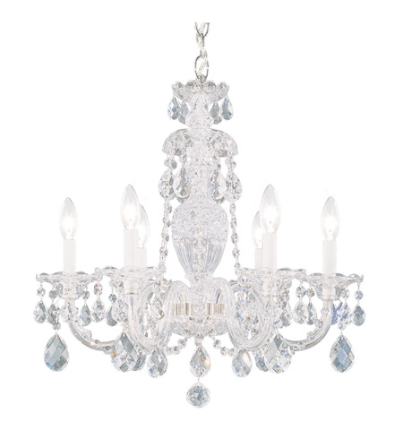 Schonbek 2994-40H Sterling 6 Light 21 inch Silver Chandelier Ceiling Light in Clear Heritage photo