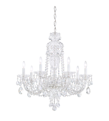 Schonbek 2995 40h sterling 7 light 25 inch silver chandelier schonbek 2995 40h sterling 7 light 25 inch silver chandelier ceiling light in clear heritage mozeypictures Choice Image
