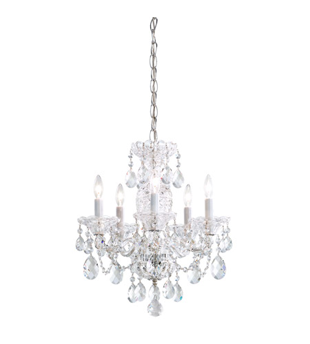 Schonbek 2999-40H Sterling 5 Light 16 inch Silver Chandelier Ceiling Light in Clear Heritage photo