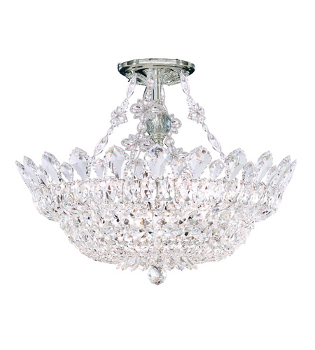 Schonbek 5796A Trilliane 8 Light 19 inch Silver Semi Flush Mount Ceiling Light in Clear Spectra photo