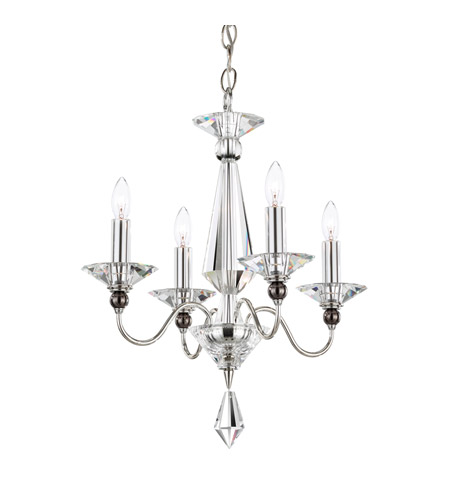 Schonbek 9674-40CL Jasmine 4 Light 16 inch Silver Chandelier Ceiling Light in Clear Vintage photo