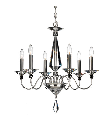 Schonbek 9676-40CL Jasmine 6 Light 23 inch Silver Chandelier Ceiling Light photo