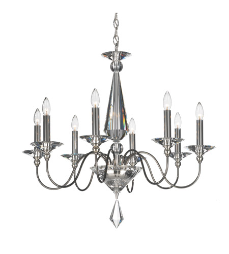 Schonbek 9678-40CL Jasmine 8 Light 30 inch Silver Chandelier Ceiling Light in Polished Silver, Clear Vintage photo
