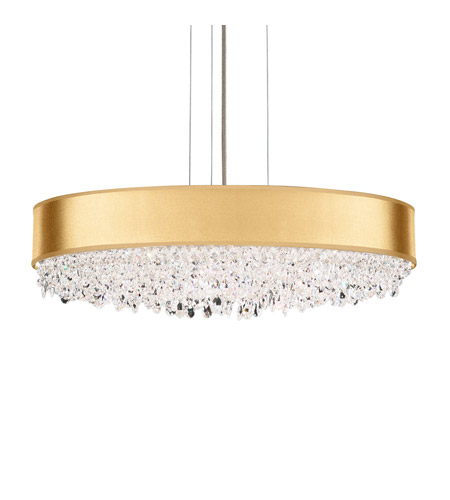 Schonbek EC1324N-401H4 Eclyptix 7 Light 24 inch Stainless Steel Pendant Ceiling Light in Gold, Clear Heritage photo