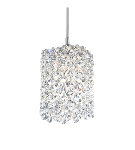 Schonbek RE0405A Refrax 1 Light 4 inch Stainless Steel Pendant Ceiling Light in Clear Spectra, Geometrix,Canopy Sold Separately photo