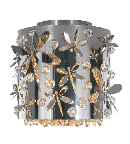 Schonbek Shadow Dance 1 Light Flush Mount in Black Pearl and Golden Shadow Swarovski Elements Colors Trim SH0608N-49GS photo