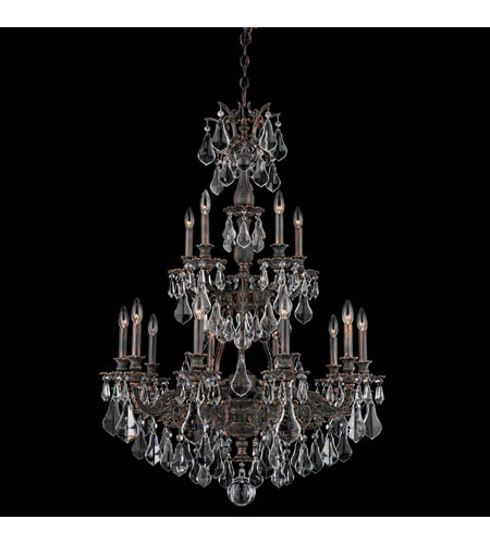 Schonbek Sophia 15 Light Chandelier in Coppertina and Clear Optic Handcut Trim 6964-87O photo