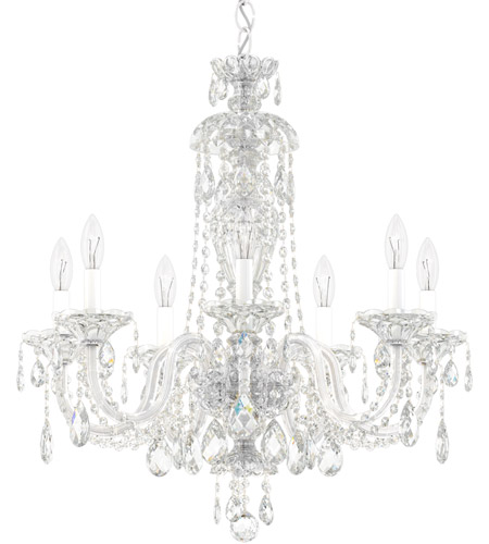 Schonbek 2995-40A Sterling 7 Light Silver Chandelier Ceiling Light in Spectra, Polished Silver photo