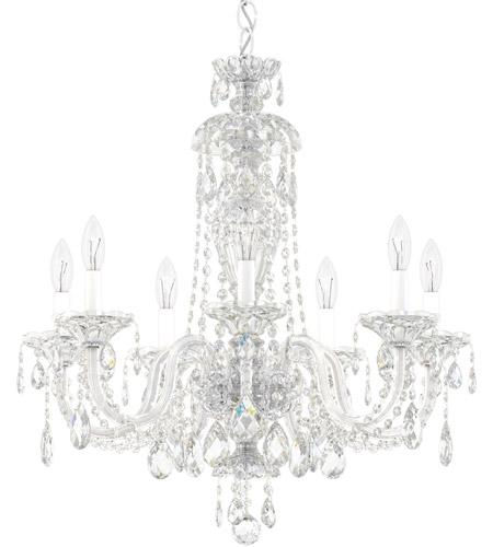 Schonbek 2995 40h Sterling 7 Light 25 Inch Silver Chandelier Ceiling In Polished Heritage