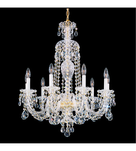 schonbek 299640h sterling 9 light 27 inch silver chandelier ceiling light in clear heritage - Schonbek Chandelier