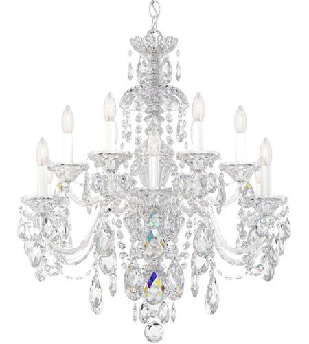 Schonbek 3601 40h Sterling 12 Light 29 Inch Silver Chandelier Ceiling In Polished Heritage