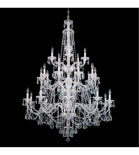 Schonbek 3610-40H Sterling 25 Light 45 inch Silver Chandelier Ceiling Light in Clear Heritage photo