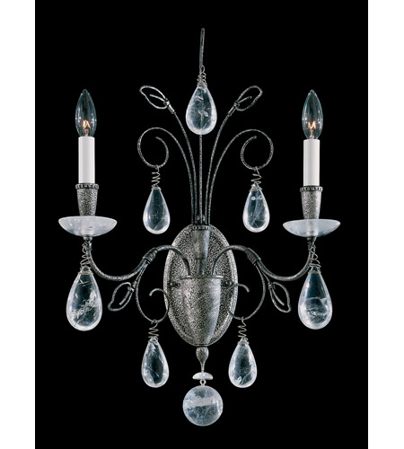 Schonbek Tesoro 2 Light Wall Sconce in Antique Pewter and Clear Rock Crystal Trim 9702-47 photo