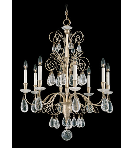 Schonbek Tesoro 8 Light Chandelier in Silvergild and Clear Rock Crystal Trim 9708-91 photo