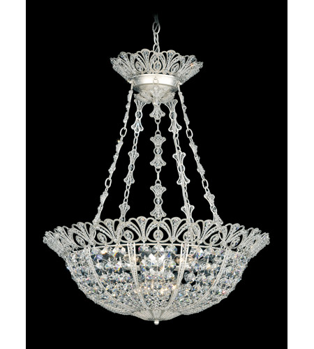 Schonbek Tiara 9 Light Pendant in Antique Silver and Clear Spectra Crystal Trim 9849-48 photo