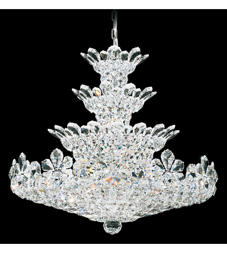 Schonbek 5856S Trilliane 30 Light 30 inch Silver Chandelier Ceiling Light in Clear Swarovski photo